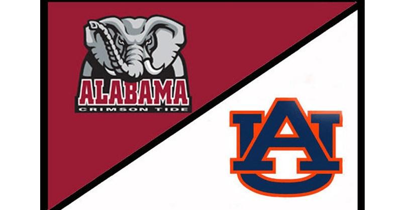 Alabama Auburn split picture