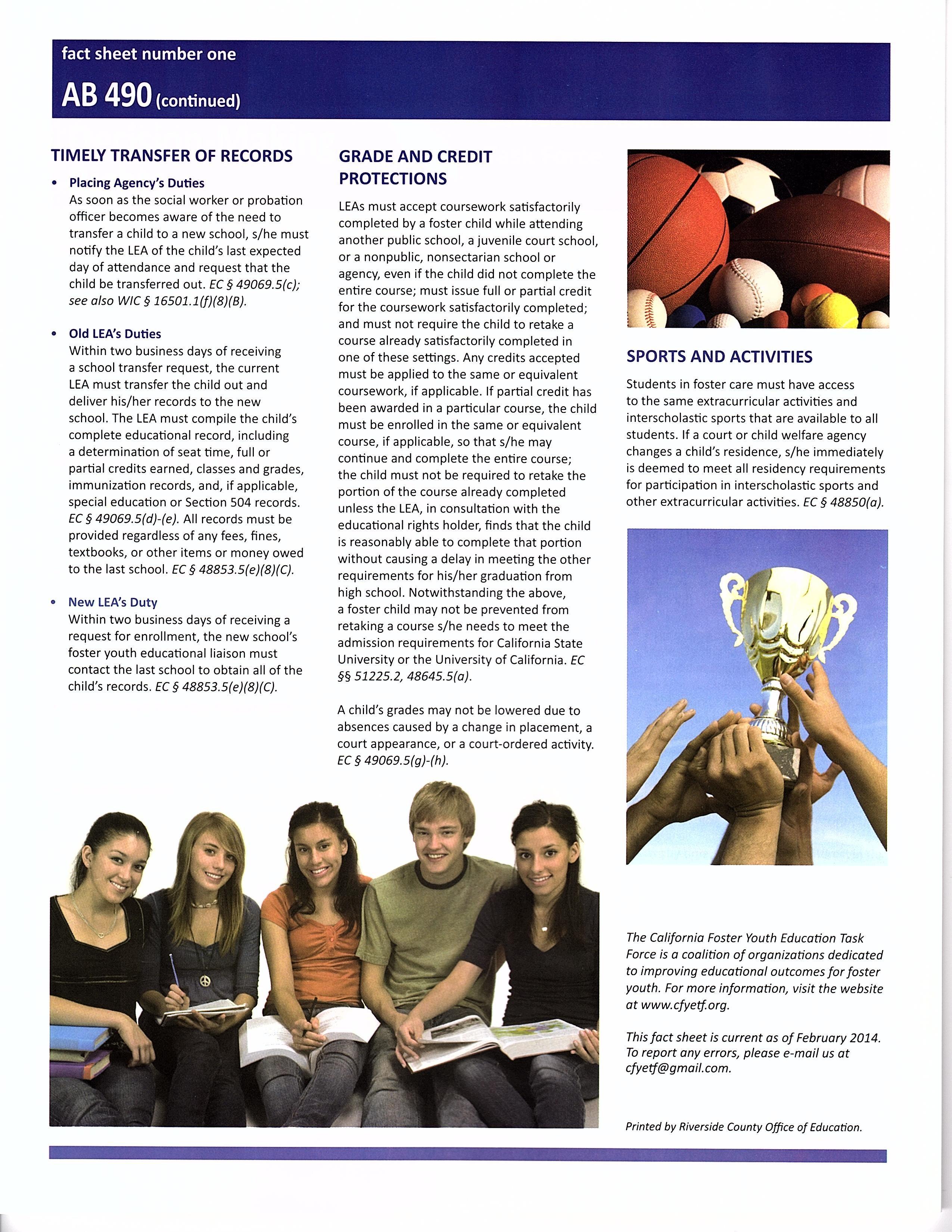 AB 90 Fact Sheet Manual