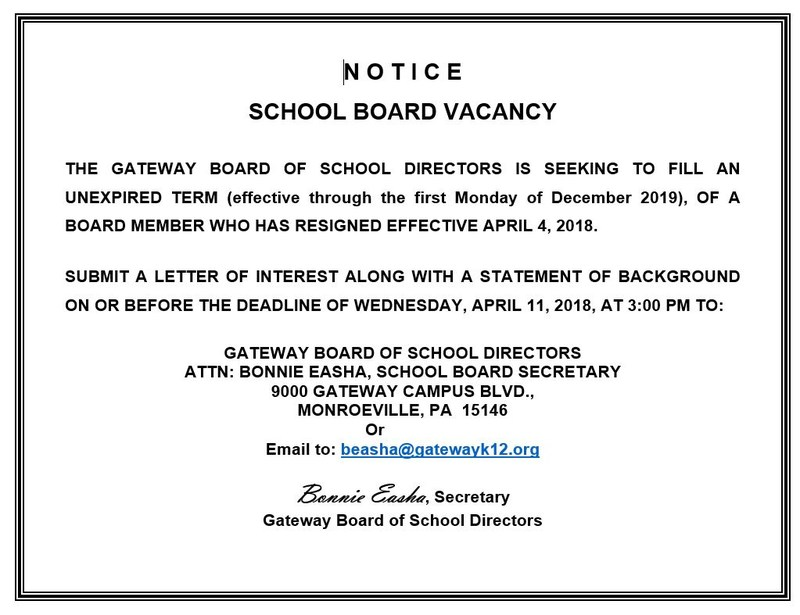 School Board Vacancy