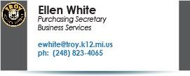 Ellen White, ewhite@troy.k12.mi.us.