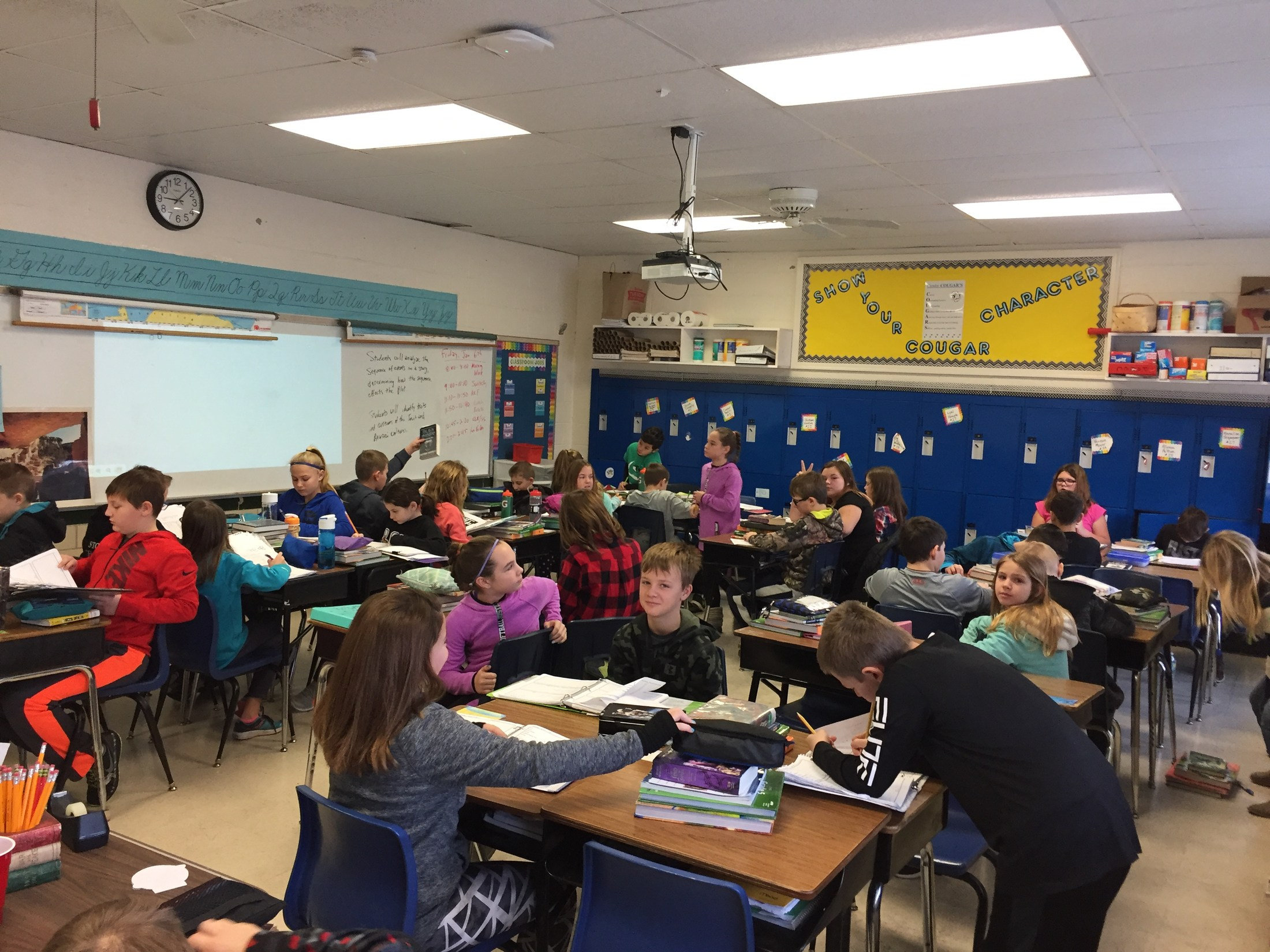 Crosby Elementary has 33 fifth graders in one classroom