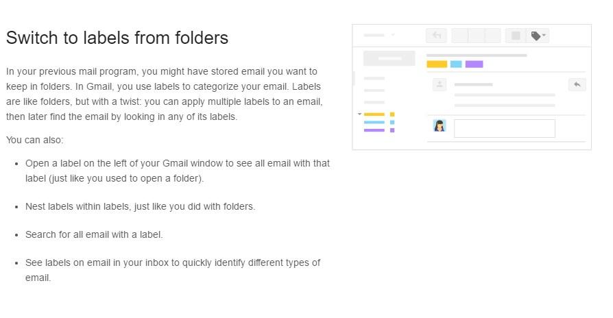Creating Labels Screenshot