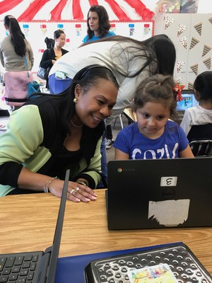 Mrs. Pierre Visits with a Kindergartener