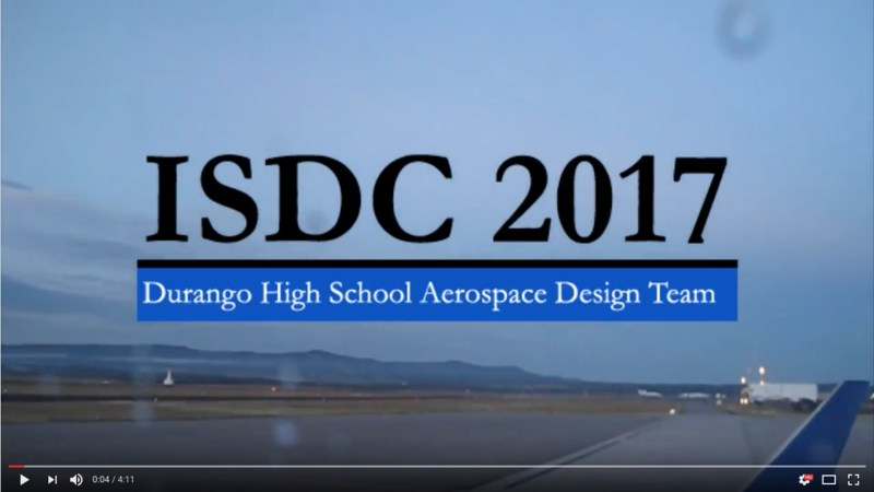Screenshot of video about the ISDC 2017 Competition