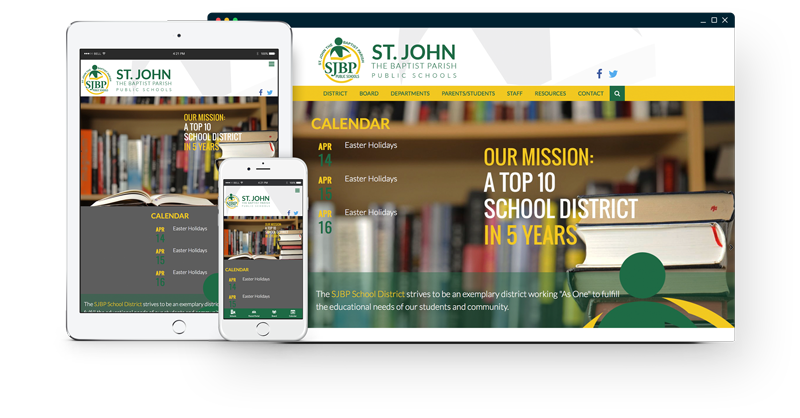 St. John the Baptist Parish Public Schools Website