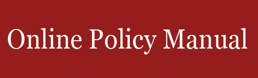 Online Policy Manual Link/Button