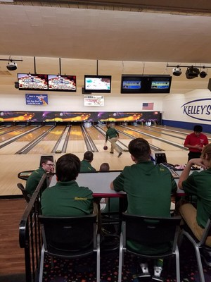 Coloma Bowling team in action