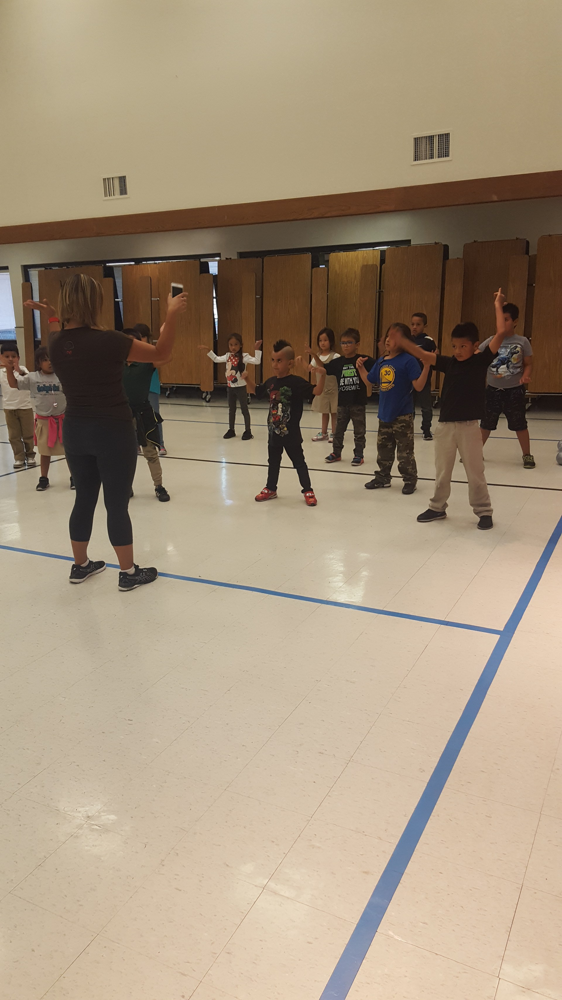 Coral students participating in Fit Kids program