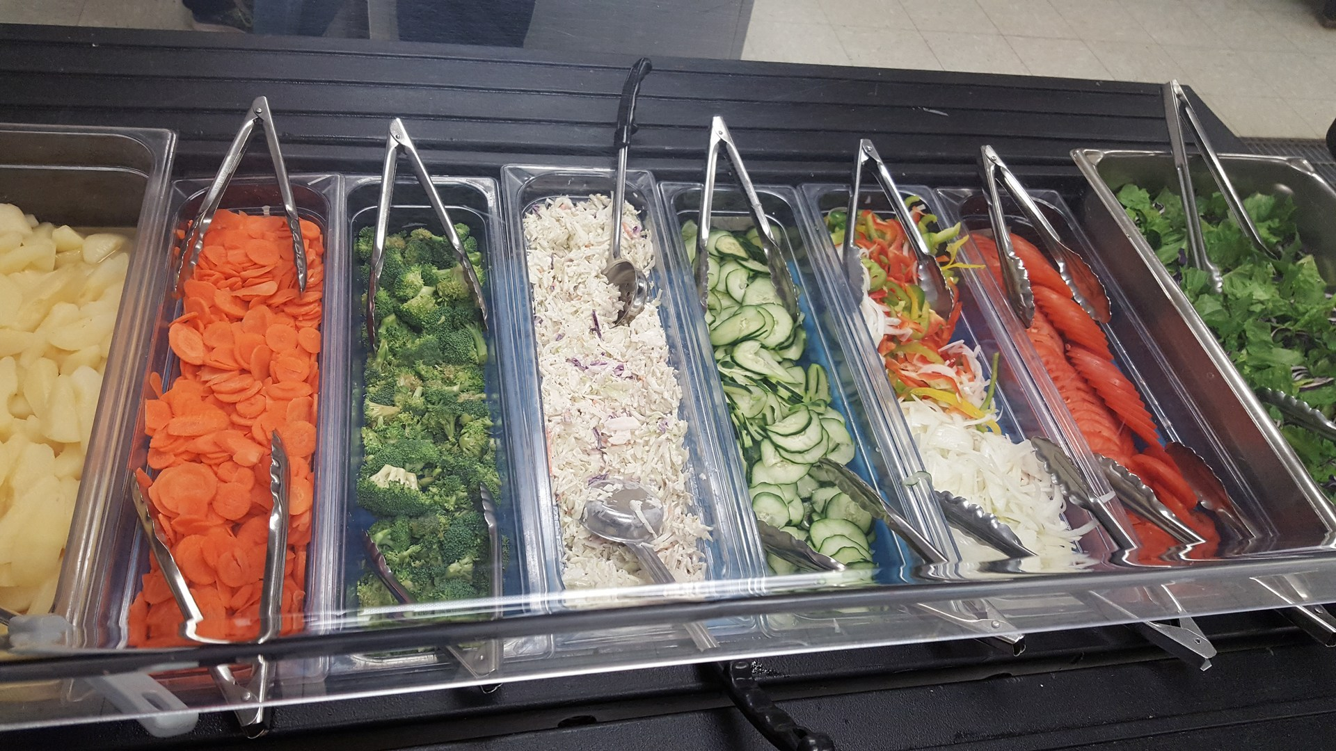 Vegetables in Cafeteria photo