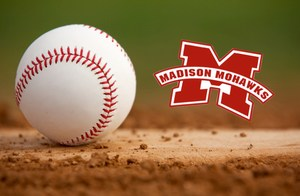 baseball with Madison logo