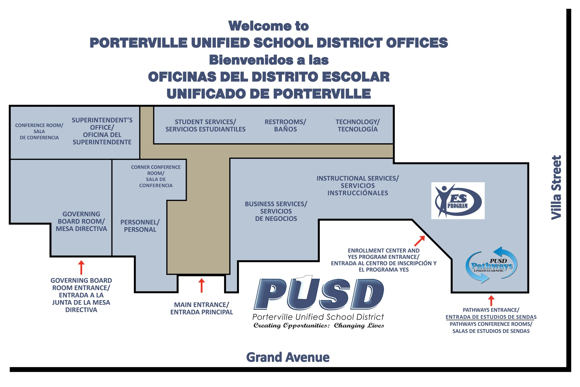 PUSD District Office Map