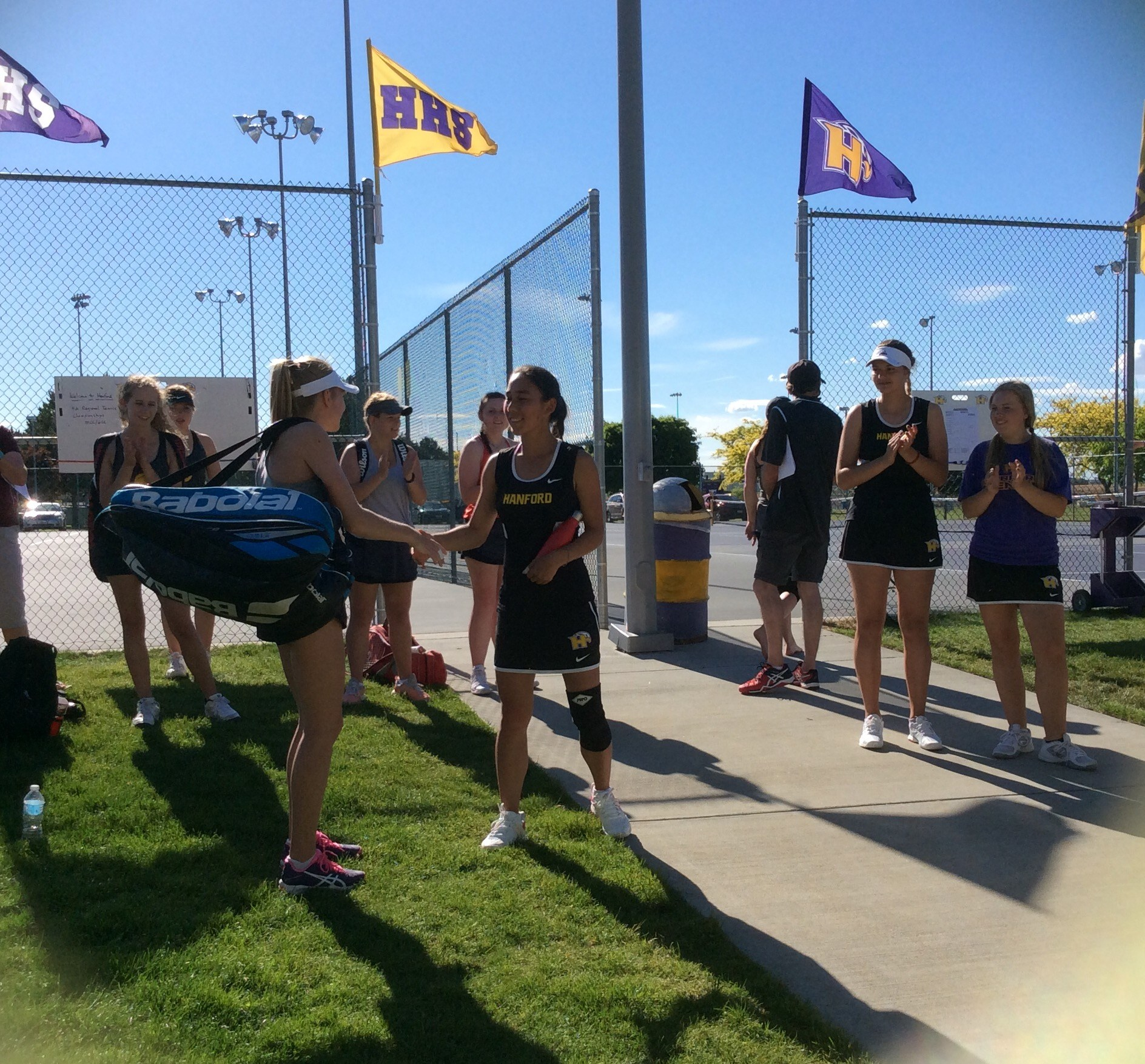 Girls Tennis Before Match