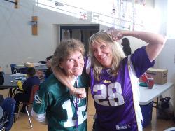 Teachers in jerseys