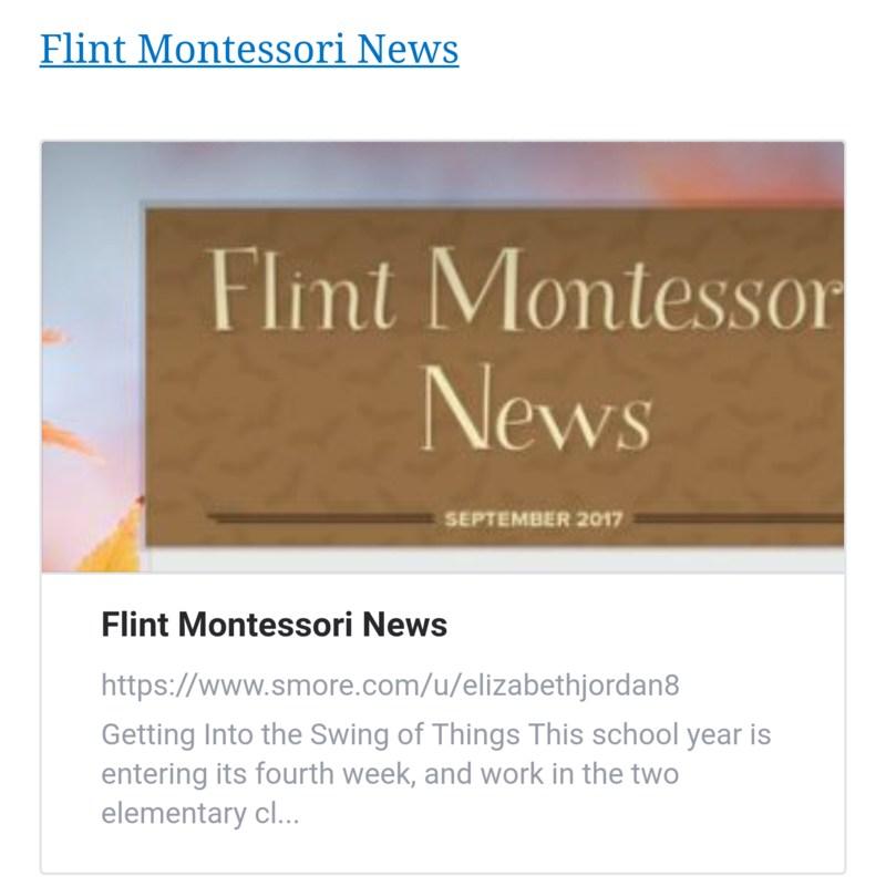 Flint Montessori News Thumbnail Image