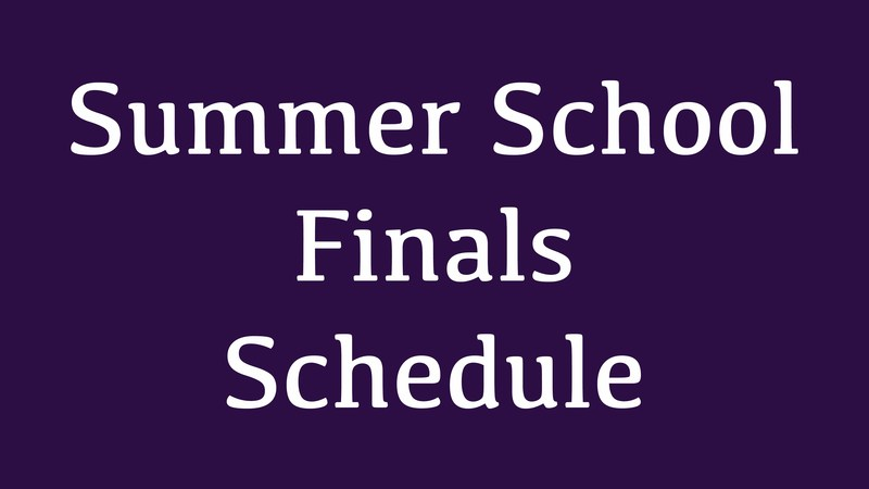 Summer School Final Schedule July 21, 2017 Thumbnail Image