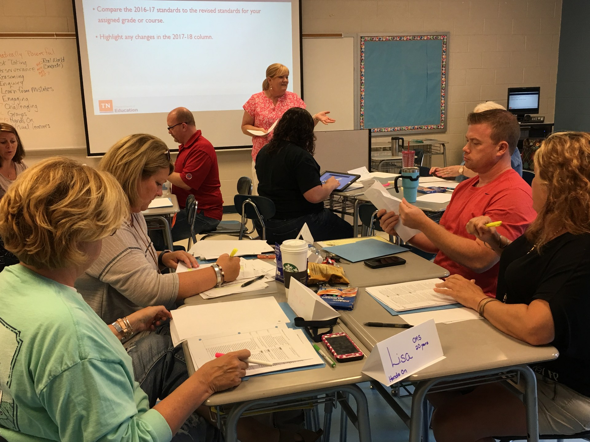 Collaborating with math teachers