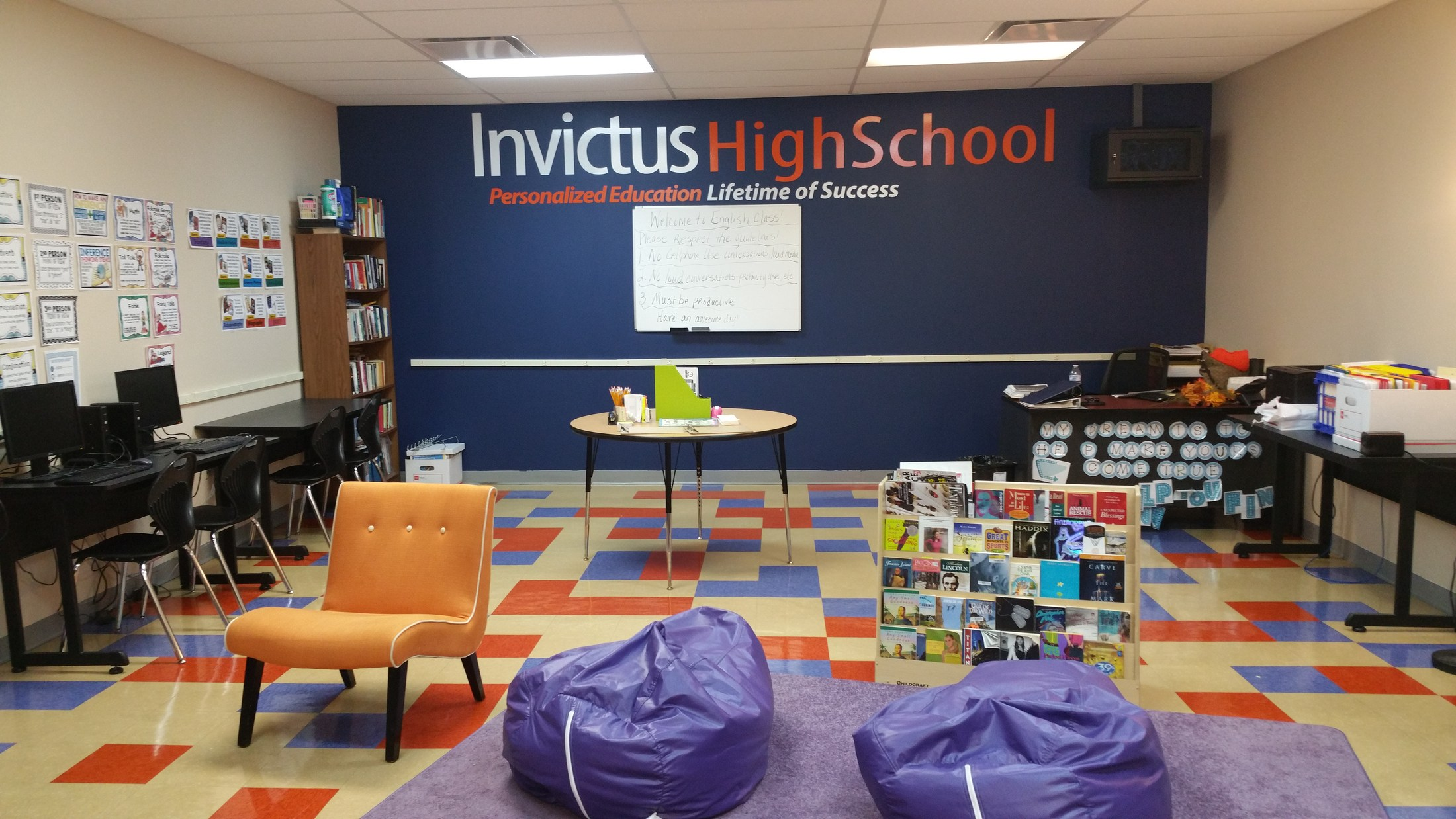Classroom At Invictus High School Cleveland