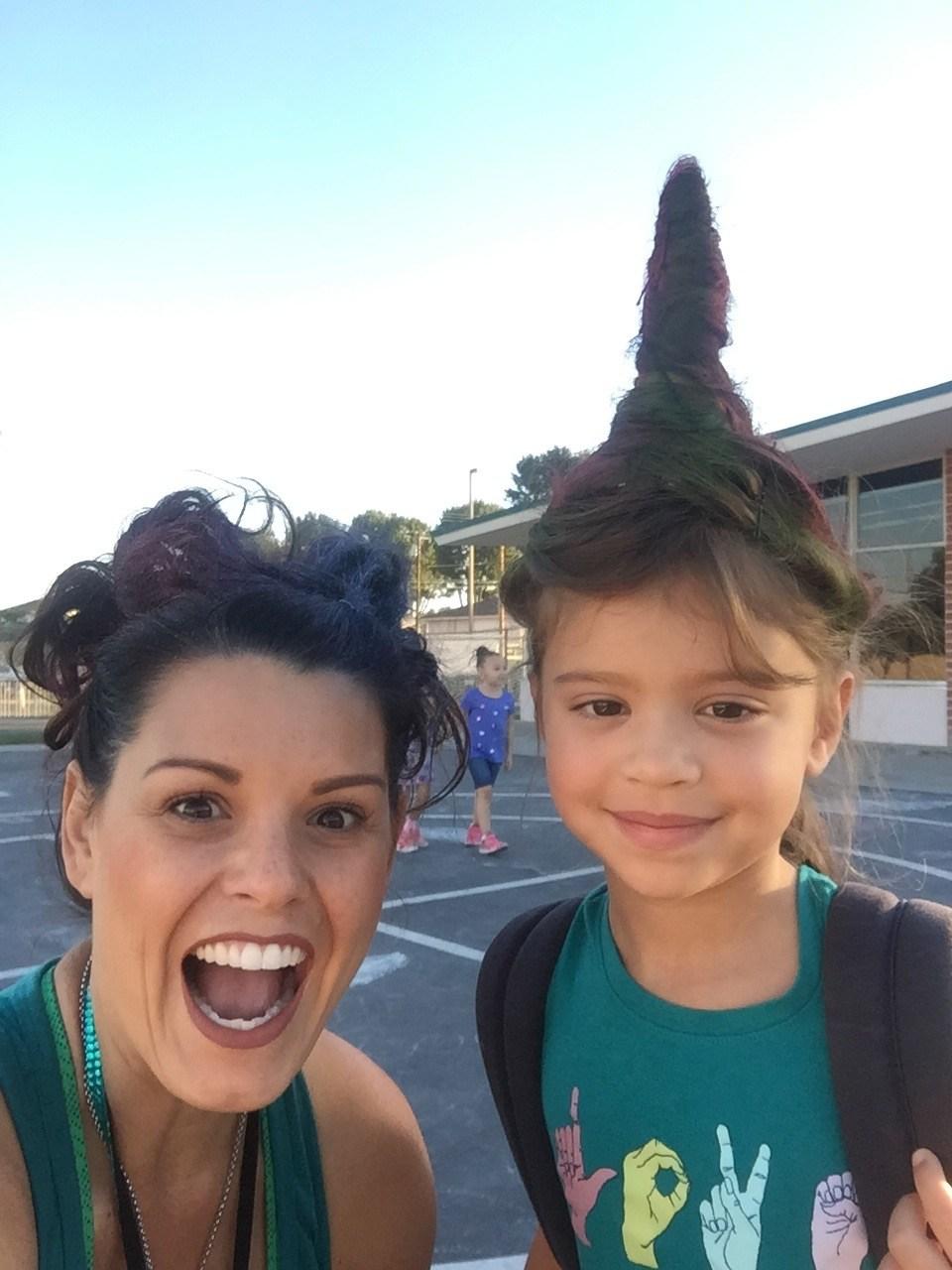 Crazy hair and a Crazy teacher!