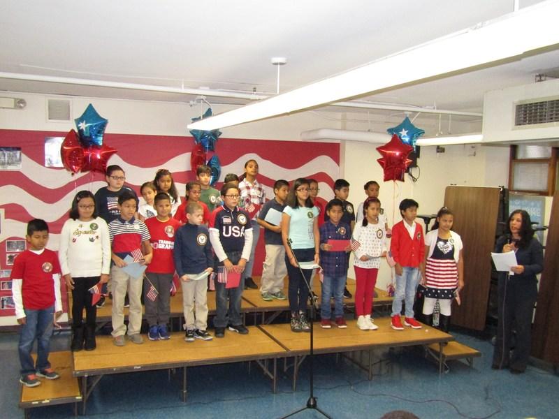 Mrs. Logothetis 4th grade students celebrating Veterans Day