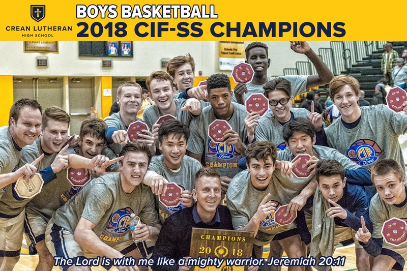 Saints Boys Basketball: 2018 CIF-SS Division 3AA Champions Featured Photo
