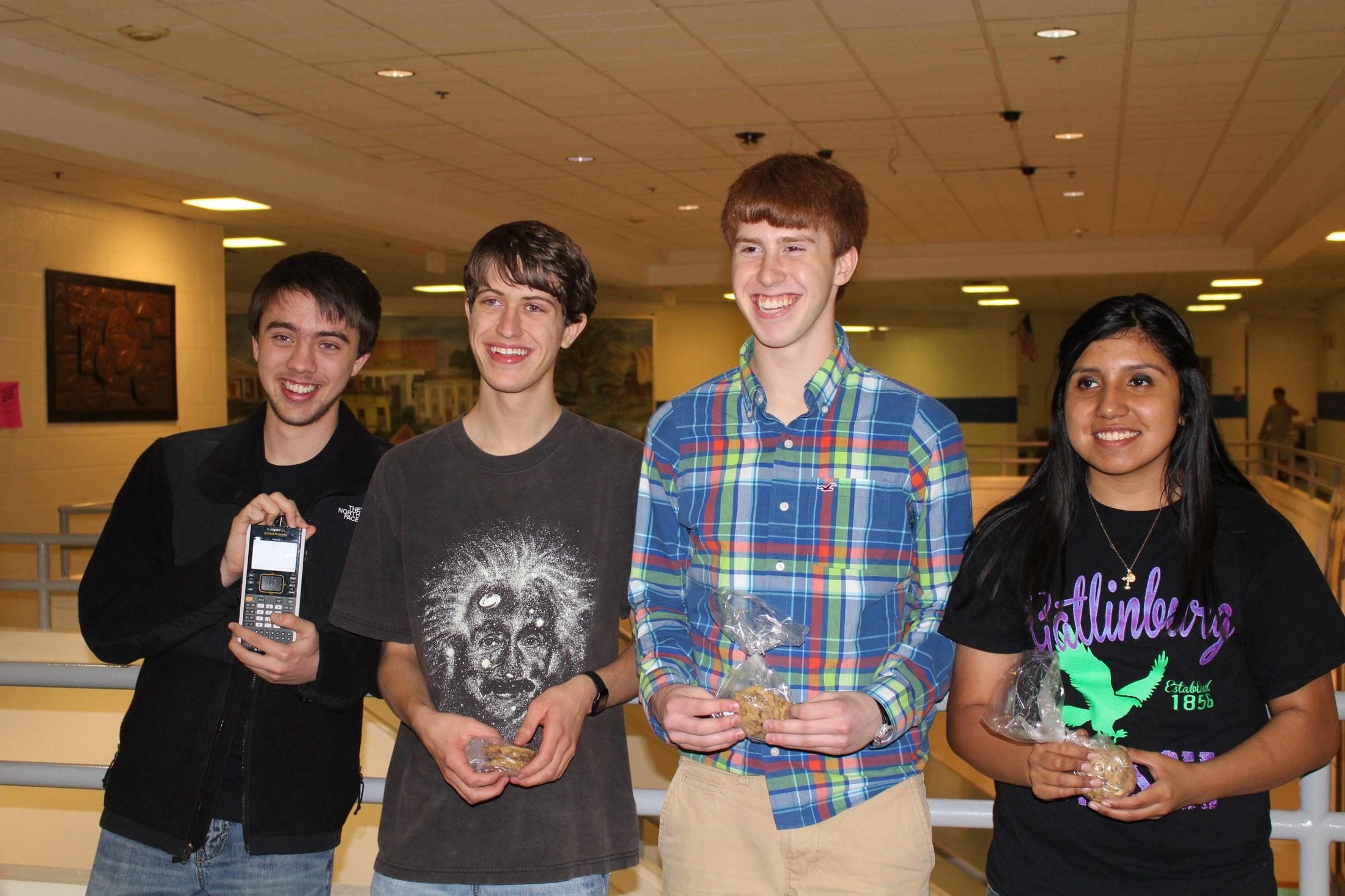 Pi Day Recitation winners