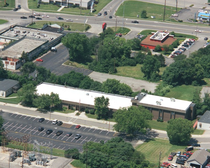 Aerial photo of the administration building