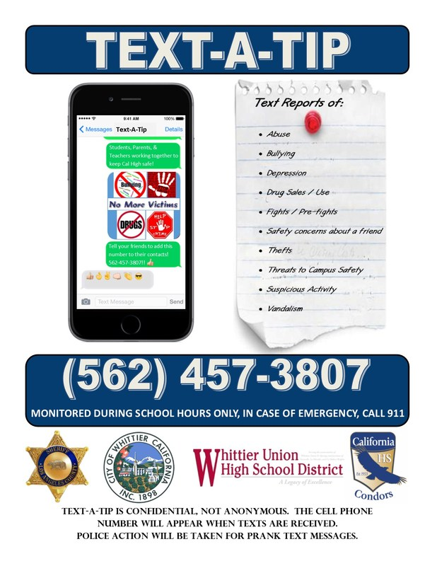 Text-A-Tip (562) 457-3807 Featured Photo