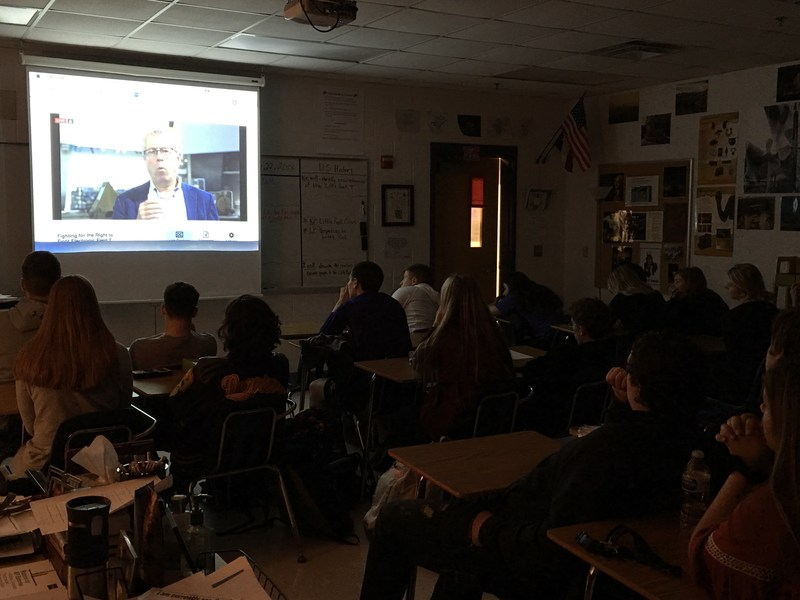 US History view live stream for virtual field trip