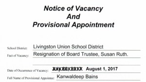 Notice of Board Appointment