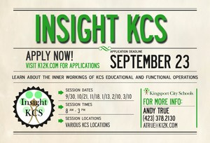 Insight KCS Apply Now invitation