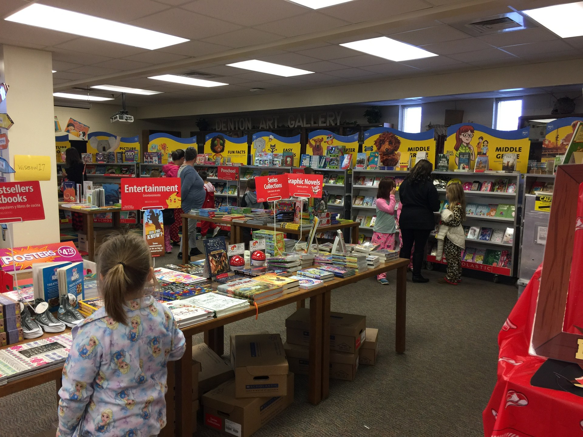Everyone loves the book fair at Denton Elementary!