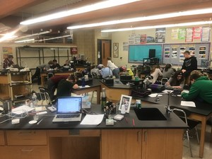 Classes at the middle school in science