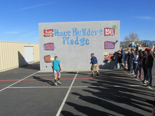 A playground classic, wall ball!