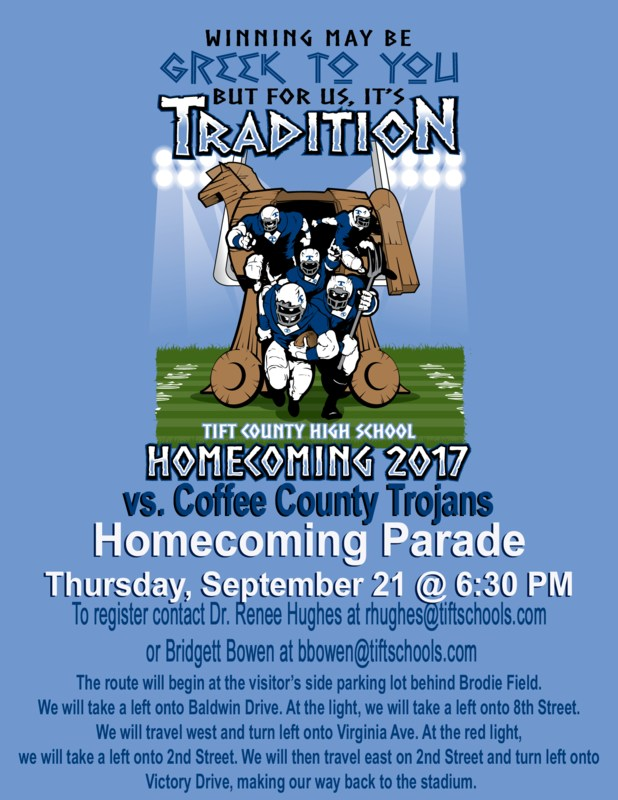 Tift Co High School Homecoming Parade 2017 Featured Photo