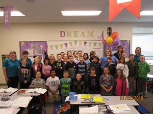 Ms. Teresa Knight and Class, 4th grade teacher at Sterling Elementary.