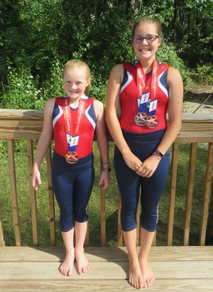 Kenzee and Addy Knight earn gymnastics medals at the State Games.