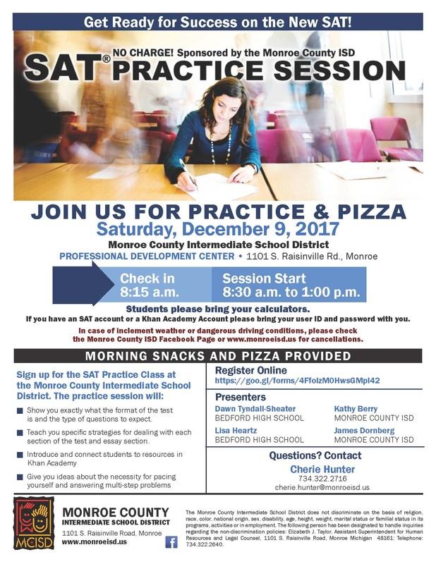 SAT Practice Flyer
