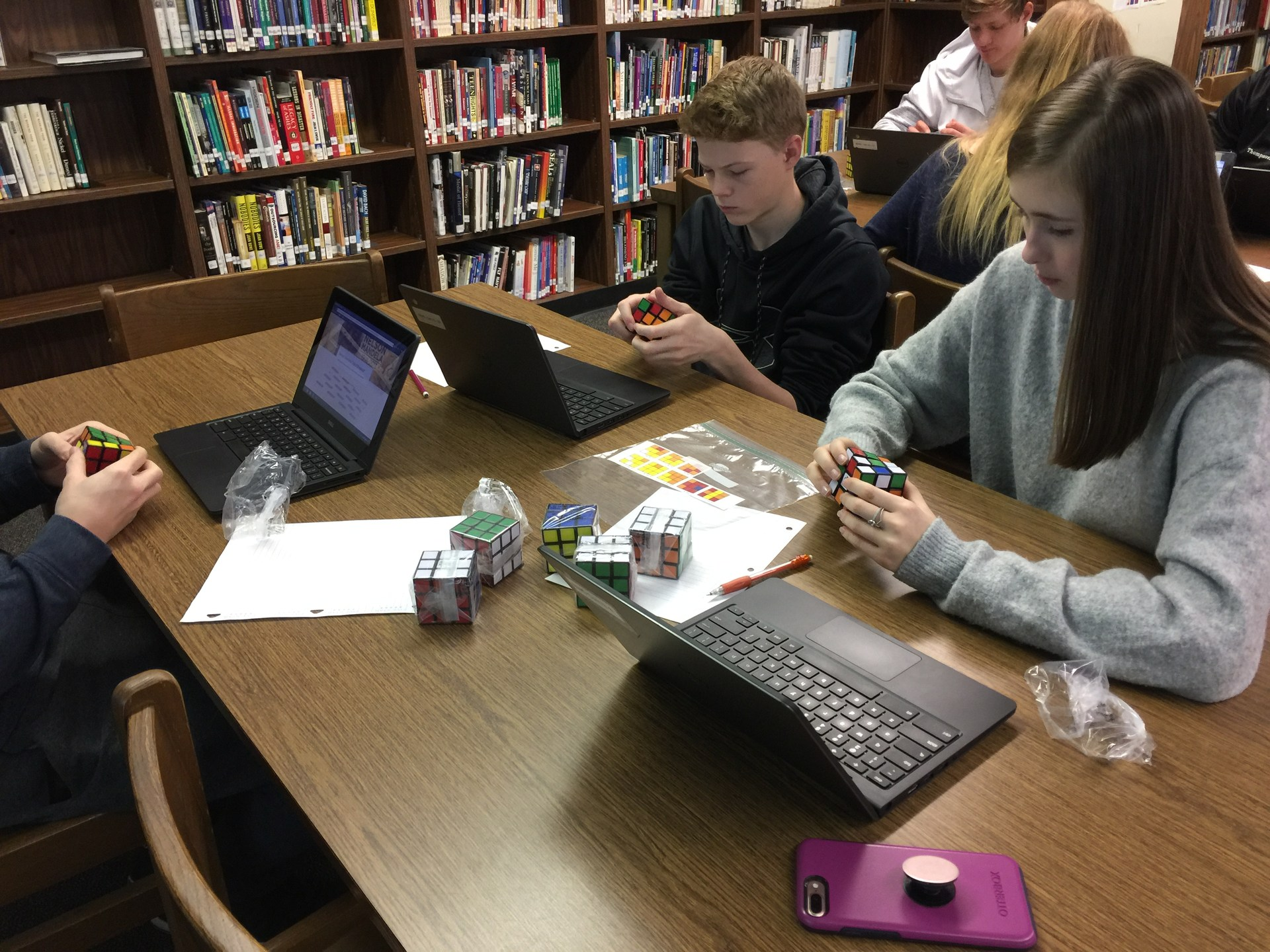 Rubik's Cube digital breakout at NDHS.
