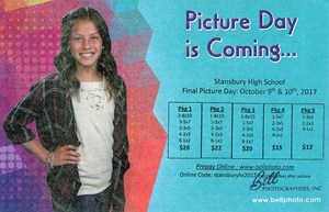 School picture graphic price list