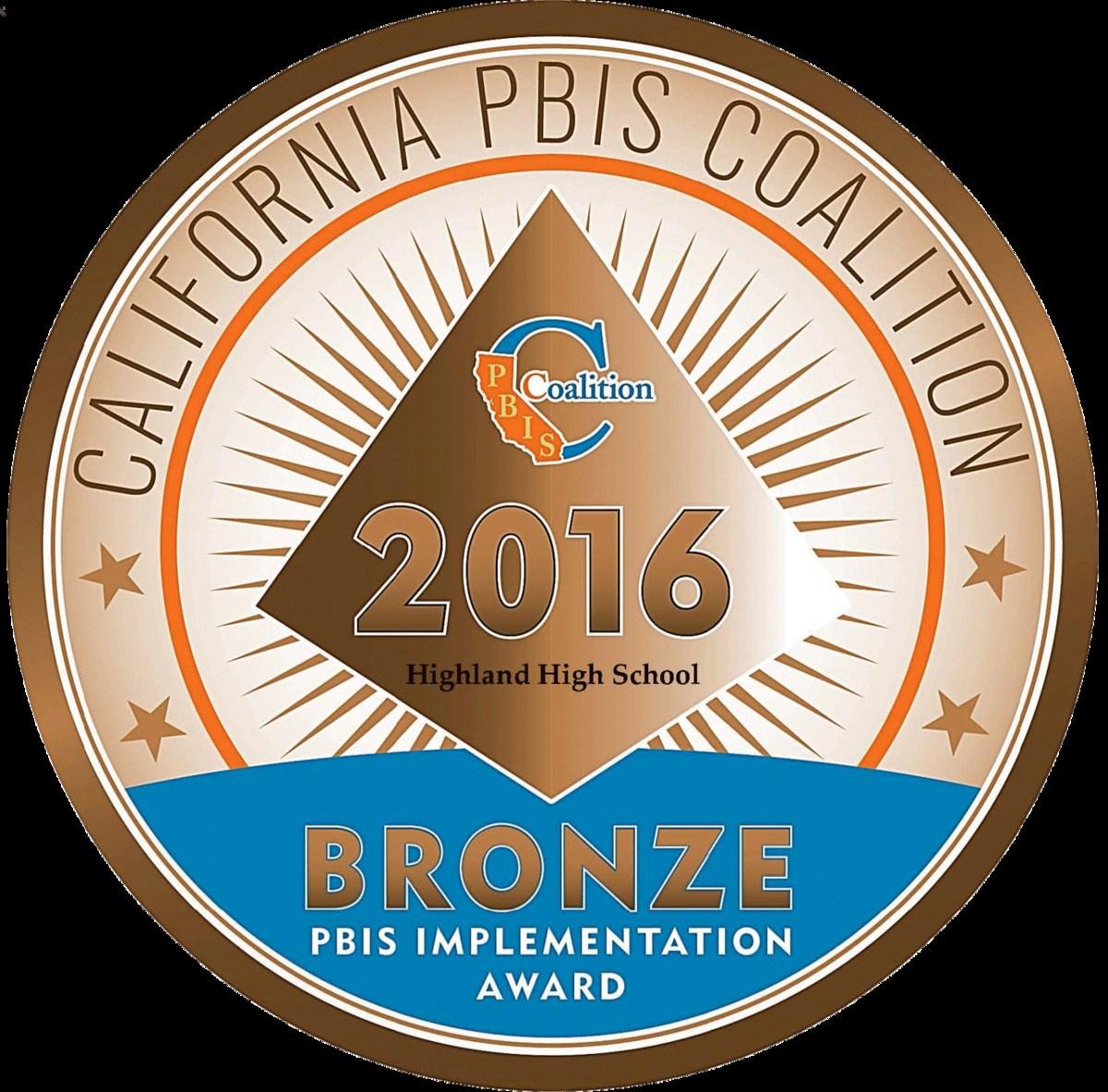 2016 California PBIS Coalition Award