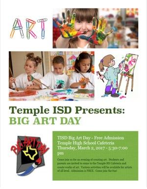 Temple ISD Big Art Day
