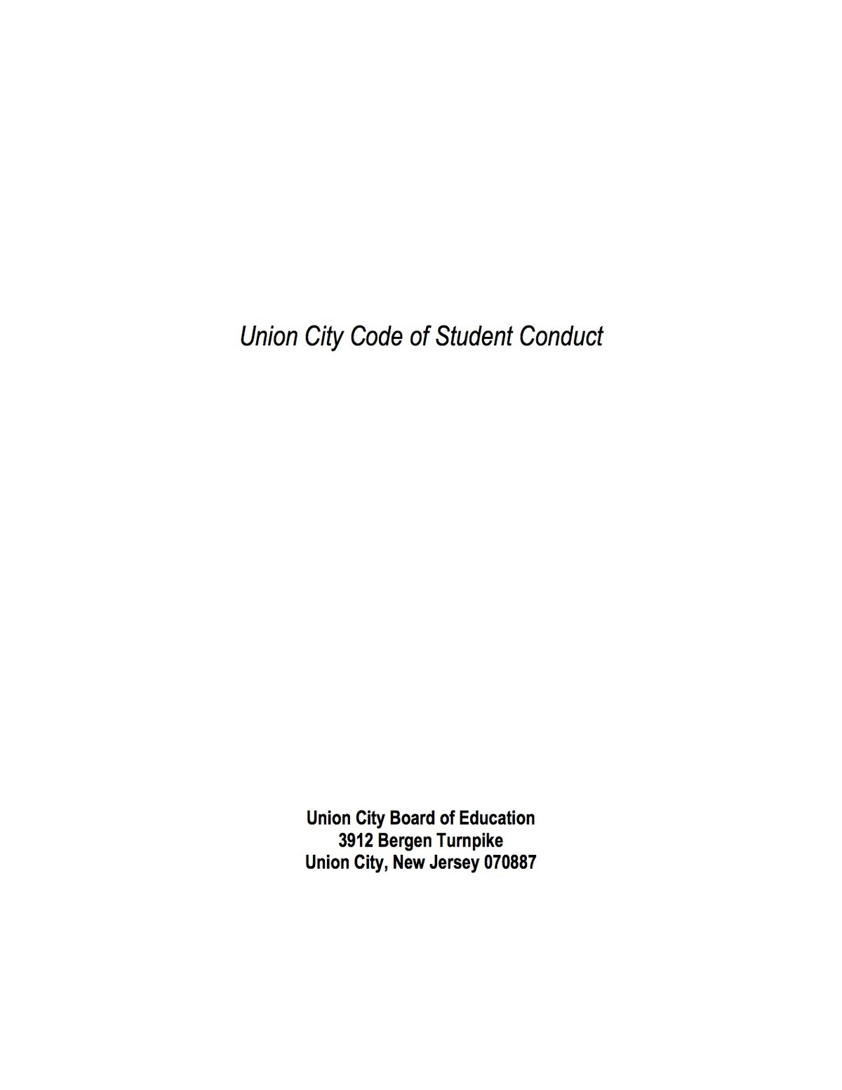 code of conduct first page image