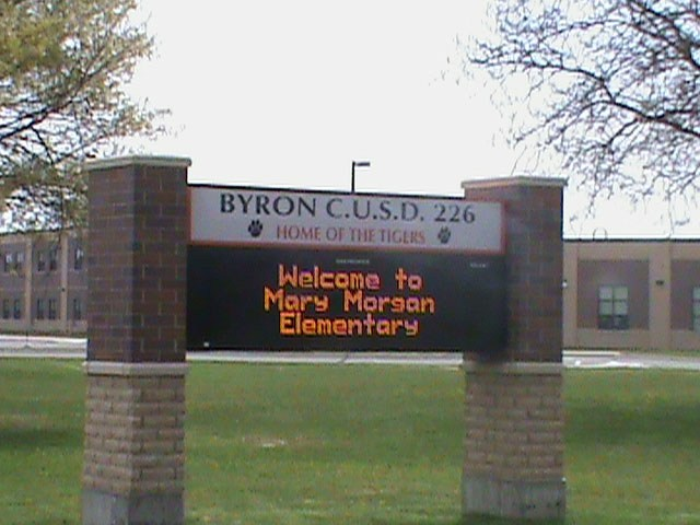 Mary Morgan Elementary School Marquee