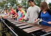 Xylophone players with Riverdale run through scales during rehearsal warmups.