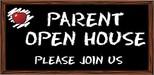 Open House written on a chalk board