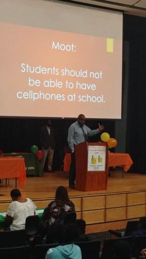 Principal Baines at the Debate