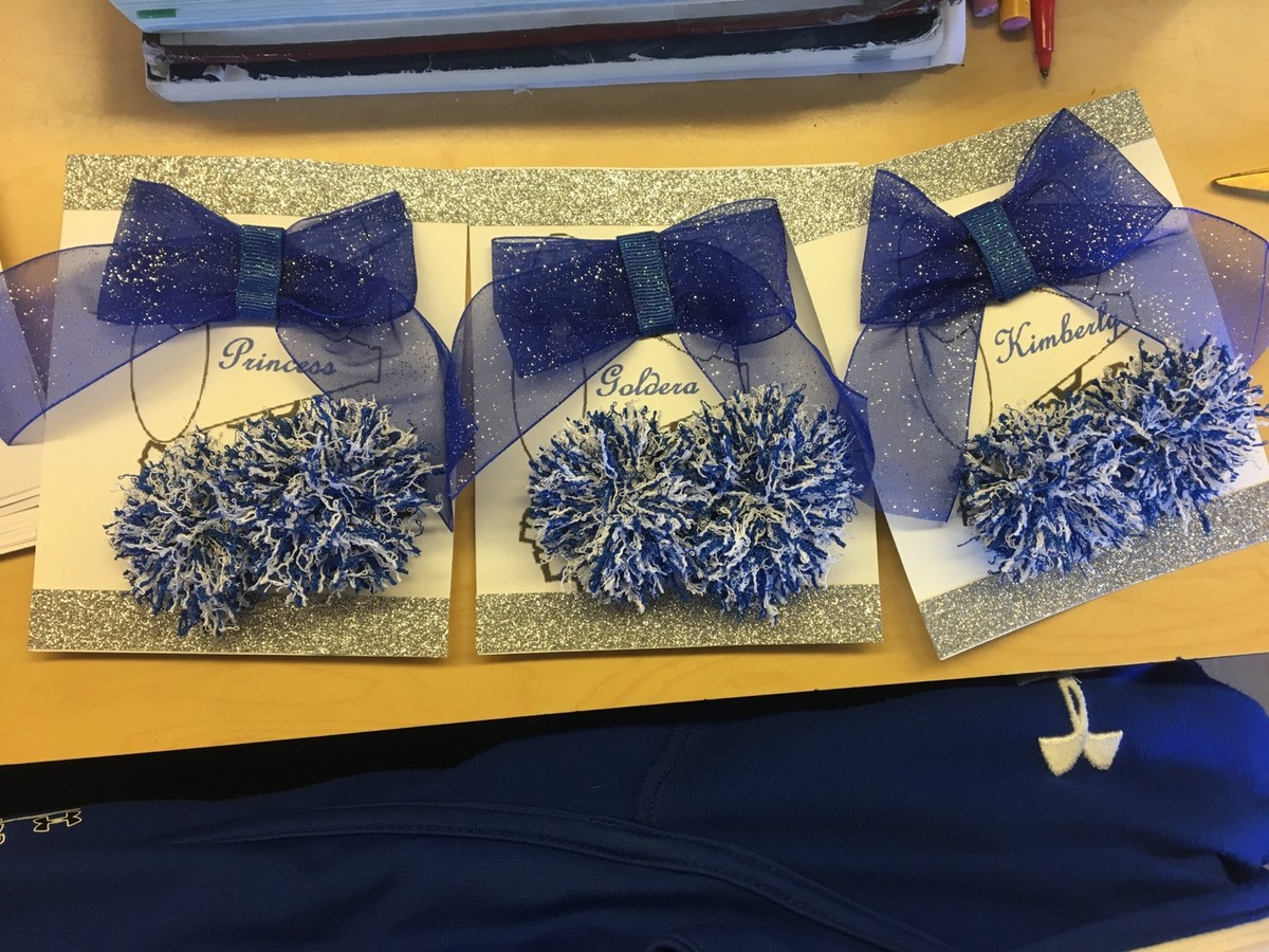 Cheerleading Locker Decorations. Locker decorations for our seniors  Cheerleading Home Page Union Catholic Regional