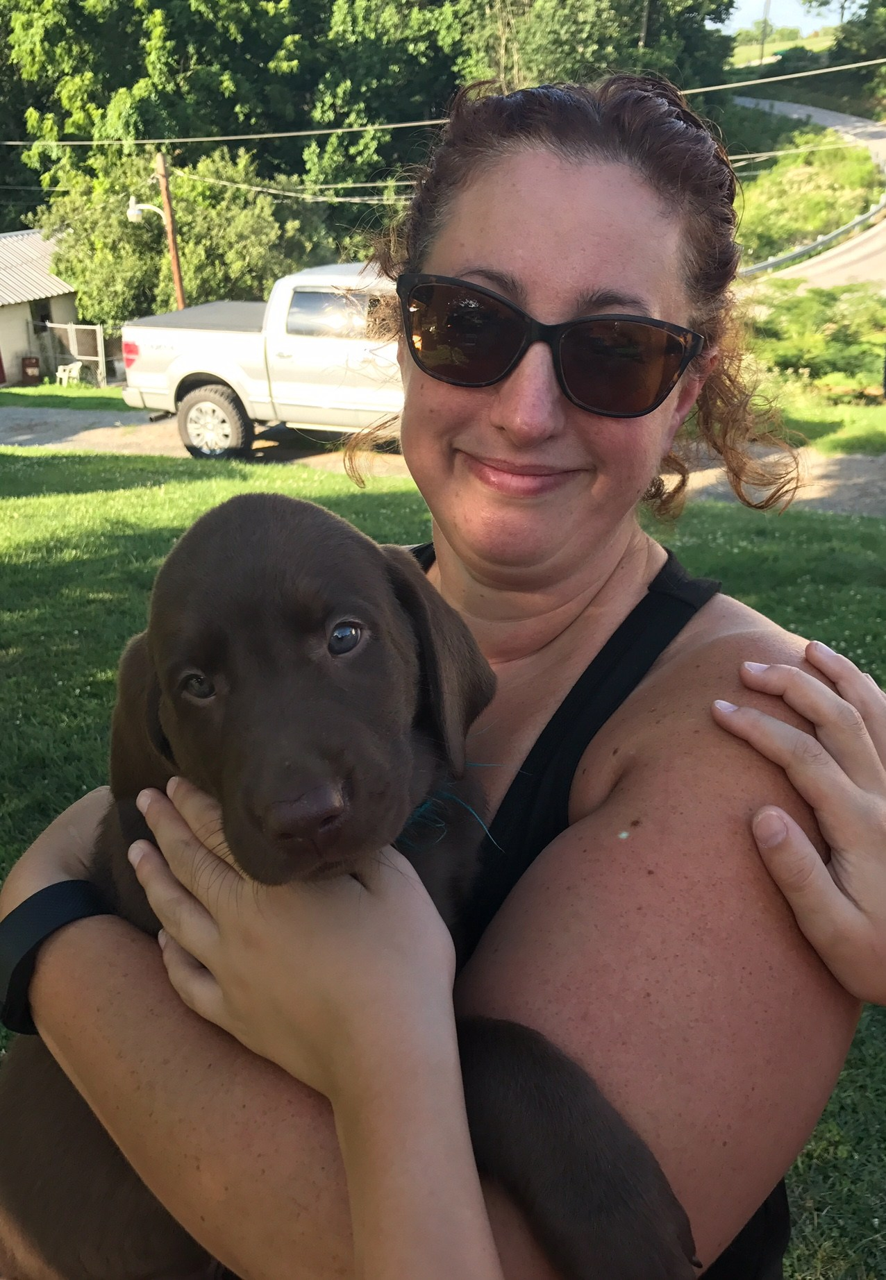 Mrs. McWilliams and her puppy Scout
