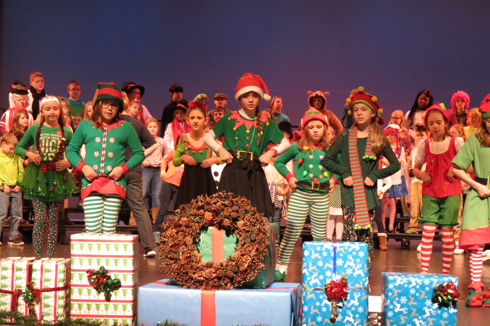 Stars holiday performances of elves dancing