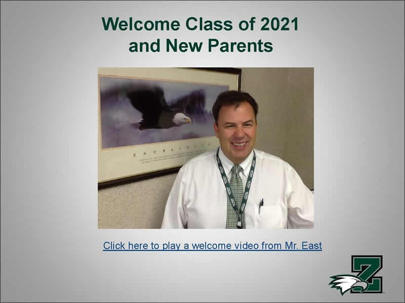 Welcome Class of 2021 & New Parents Thumbnail Image
